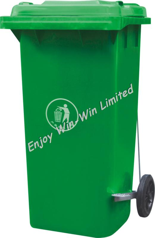 Plastic eco friendly waste bin with pedal